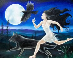 Woman and the Owl Project: Cultivating Women Spiritual Leaders  Sister, run with -- not from -- your own medicine!  Feel the wind in your hair, the moon on your body. Find the fleet-footed rhythm of your own joy, the love and longing of your heart, your ancestors, this land, or your own wild soul knowing.  Image, 'Running Free' by Angela Ferreira