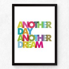 Quadro Decorativo Another Day, Another Dream