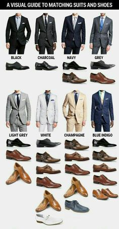 Matching suit and shoes colours