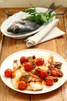 Fillet of sea bream with mushrooms | Ricetta Filetti di orata con funghi porcini | Cirio Cuore Italiano