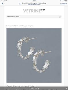 """Orecchini in argento, """"Japan"""" con disegno di campanule"""