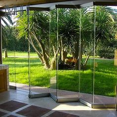 There are various styles of patio sliding doors, but the most prevalent will have an immobile door panel and a sliding door that is used as the entrance. Mostly doors consist of a thick glass panel to allow people to have a good view of the outside a Folding Glass Doors, Garden Doors, Door Design, Door Fittings, Exterior, Door Glass Design, Glass Room, Sliding Patio Doors, Exterior Doors