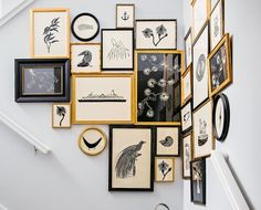 A graphic gallery wall is perfect for taking up that extra space that you didn't know what to do with