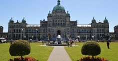 British Columbia Parliament Buildings em Victoria #viagem #canada #viajar