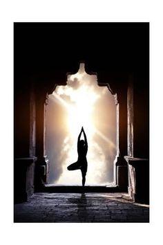 Art Print: Yoga In Temple by Marina Pissarova : 24x16in