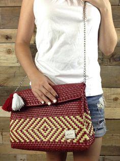 VENTA Embrague nuevo México bolso tejido bolso de