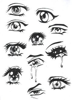 Easy Anime Drawing Eyes - Easy Anime Eyes To Draw Girl Anime Hair Sketches Drawings Easy Drawing Manga Eyes Part Ii Risovat Glaza Risovanie Glaza How To Draw Anime Eyes Step By. Manga Anime, Manga Eyes, Anime Art, Sad Anime, Anime Crying Eyes, Kawaii Anime, Manga Mouth, Otaku Anime, Drawing Eyes