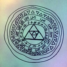 Aztec rainbow weird artwork