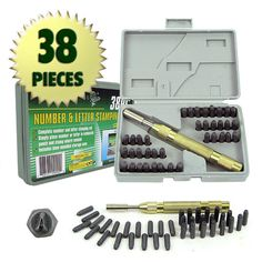 Trademark Commerce 75-9090 Trademark Tools 38 Piece Deluxe Number and Letter Metal Sta