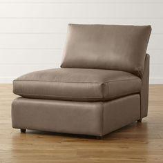 "Lounge II Petite Leather Armless 32"" Chair"