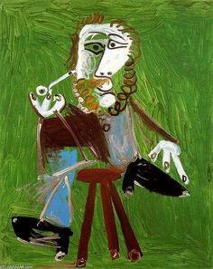 Homme à la Pipe Assis 1, 1969|© Pablo Picasso.