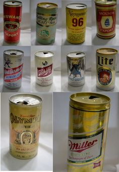 52 lot Vintage Old Beer Cans Man Cave Bar Decor Schlitz Olympia Rainier Pabst