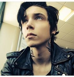 Andy Biersack. He's not even doing anything in this picture but I'm still blushing, so image what I'm like when he smiles?