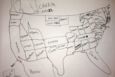 Morning Cup of Links: Can You Draw the USA?   Mental Floss