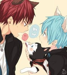 I want to know the Back story to why Kagami is afraid of Dogs. Because there is no way a huge guy like that is going to be afraid of a little dog like Number 2 without a reason lol.   So I wonder.. what kind of Trauma did my kawaii Taiga go through to be so uneasy around dogs?