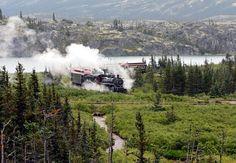 Skagway White Pass Fraser Meadows Steam Train | Alaska Shore ...