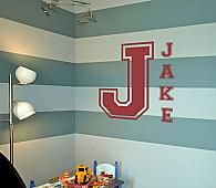 Varsity Letters Monogram Wall Decals - Trading Phrases