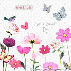 Birds, butterflies and beautiful flowers for that special lady in your life. #lovecards #lovebirthdays