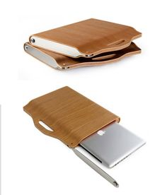 Wooden laptop case by www.ababalis.com