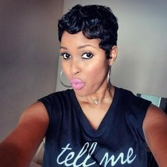 These short black hairstyles really are stylish Cute Short Haircuts, Short Black Hairstyles, Pixie Hairstyles, Trendy Hairstyles, Stylish Short Hair, Short Sassy Hair, Short Hair Cuts, Cut Her Hair, Love Hair