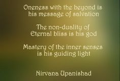 Oneness with the beyond - Nirvana Upanishad