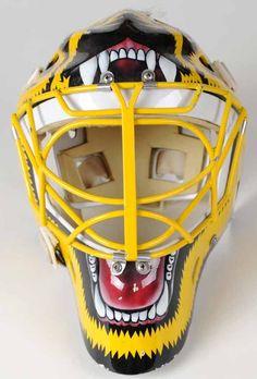 Goalie Gear, Goalie Mask, Hockey Goalie, Ice Hockey, Helmet Design, Mask Design, Boston Bruins Goalies, Boston Sports, Sports Figures