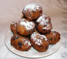 oliebollen/ oil balls...dutch new years kind of donut