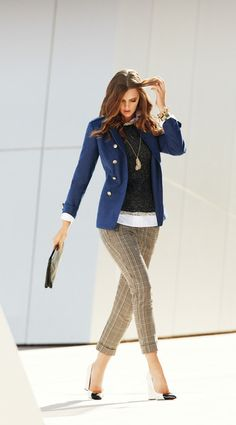Plaid pants are becoming a 'fan' favorite! get yours at http://donnamusilli.cabionline.com Collection Gallery - CAbi Fall 2013 Fashion - Carol Anderson by Invitation