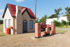 McLean, TX - 2014 : This beautifully restored 1929 gas station was the first Phillips 66 Service station that was built in Texas. Old Route 66, Historic Route 66, Mclean Texas, Travel Route, Gas Station, American History, Restoration, Shed, Around The Worlds