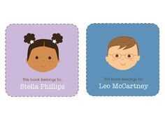 Personalized Bookplate Stickers #preschool #gift #coolmompicks