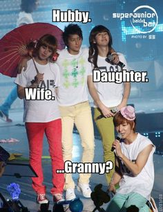 Super Junior - Heechul, Hangeng, Kyuhyun Leeteuk TOO TRUE XD Come visit kpopcity.net for the largest discount fashion store in the world!!