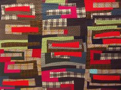 Wool quilt ~ detail picture.
