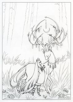 Wish [Sketch] by TeaKitsune Coloring Book Art, Colouring Pages, Fox Illustration, Estilo Anime, Art Plastique, Mythical Creatures, Art Techniques, Cool Drawings, Cute Art