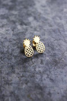 Pineapple Stud Earrings. Boyfriend got me these for my 15th Birthday