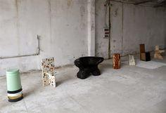 Max Lamb´s exercises at seating ... Milan Design Week   HEIMELIG BLOG
