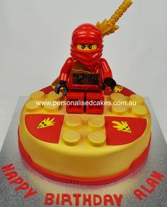 [ Lego Ninjago Birthday Cake ] - Best Free Home Design Idea & Inspiration Cake Lego, Lego Ninjago Cake, Ninjago Party, Ninja Birthday Parties, Lego Birthday, Birthday Ideas, Birthday Cakes Sydney, Lego Kai, Pinterest Cake