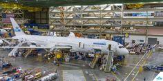 Premier Boeing 787-9 Dreamliner d'Air France-KLM à l'assemblage final - © KLM