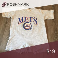 Mets Onesie Gently used, washed, clean, pet & smoke free home!  Says 0-24 months but would fit closer to 12-24 better. One Pieces