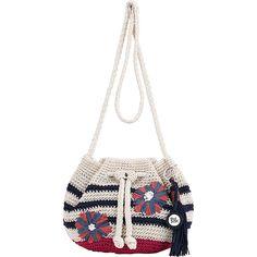 The Sak Moraga Crochet Drawstring Crossbody ($44) ❤ liked on Polyvore featuring bags, handbags, shoulder bags, blue, shoulder handbags, purse crossbody, blue shoulder bag, handbags crossbody and handbags purses