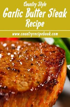 Sirloin Beef Steak with Garlic Butter recipe. This simple recipe is amazing and absolutely delicious!