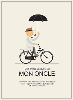 Poster design for the french film 'Mon Oncle' for the Silver Screen Society project by Ryan Chapman
