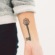 Key - Temporary small tattoo on wrist