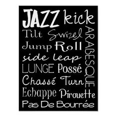 Jazz Dance Subway Art  Poster by DesignsbyJaime