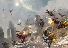 Warhammer Fantasy and art. Warhammer 40000, Warhammer Art, Warhammer Fantasy, Dark Eldar, Eldar 40k, Far Future, Dancing In The Dark, Game Workshop, To Infinity And Beyond