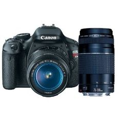 Canon EOS Rebel T3i 18 MP CMOS APS-C Sensor DIGIC 4 Image Processor Digital SLR Camera with EF-S 18-55mm f/3.5-5.6 IS Lens + Canon EF 75-300mm f/4-5.6 III Telephoto Zoom Lens  by Canon