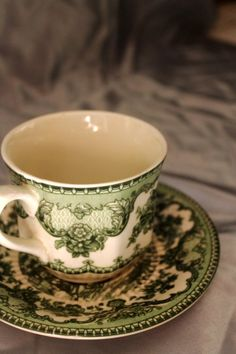"""""""Forest Nymph"""" cup and saucer -- photographed by cynara77 via quebuenoesvivir:"""