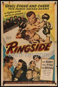 "Ringside-Don ""Red"" Berry-Sheila Ryan-boxing thriller-kraftbacked-1949-27x41"