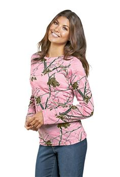 Ladies love the Realtree pink camo tees and hoodies which can be worn  together for a a26676aed