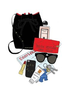 WHAT'S INSIDE MY BAG ILLUSTRATIONS - Google Search