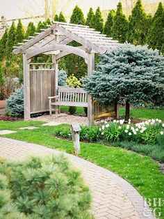 Explore and enjoy the beauty of the Better Homes & Gardens Test Garden®. Gazebo On Deck, Pergola Patio, Backyard, Pergola Ideas, Pergola Cover, Pergola Plans, Home Garden Images, Home And Garden, Garden Tips